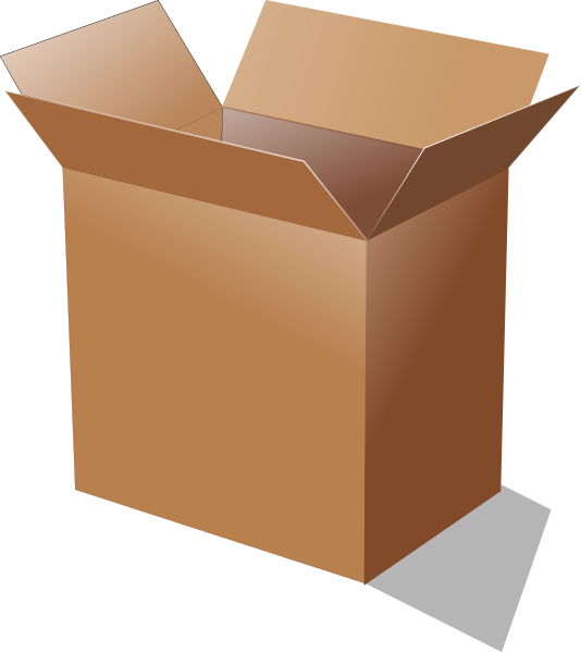 banner royalty free library Open cardboard box clip. Boxes clipart animated