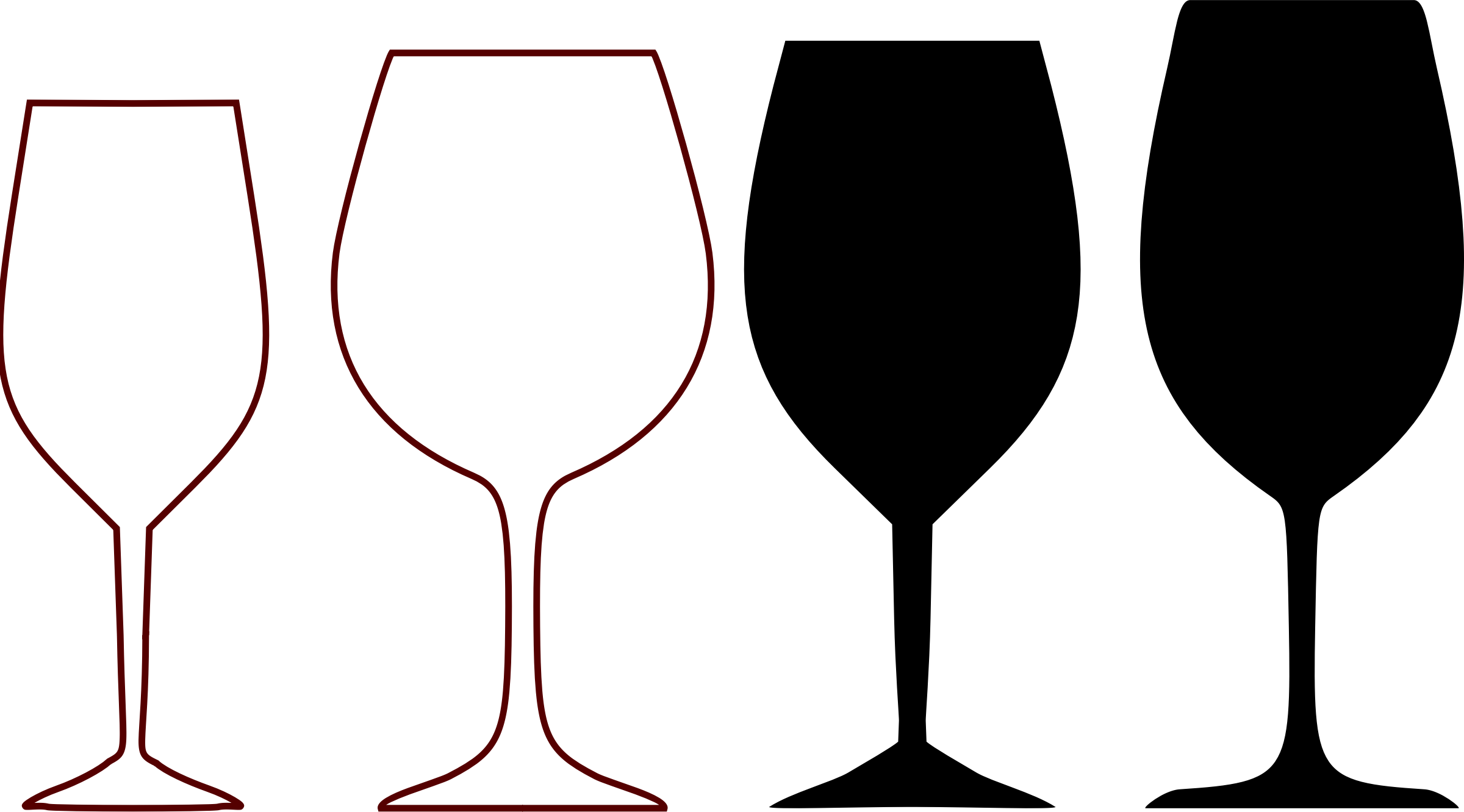 banner royalty free download Goblet drawing shiny object. Wine glass shapes by