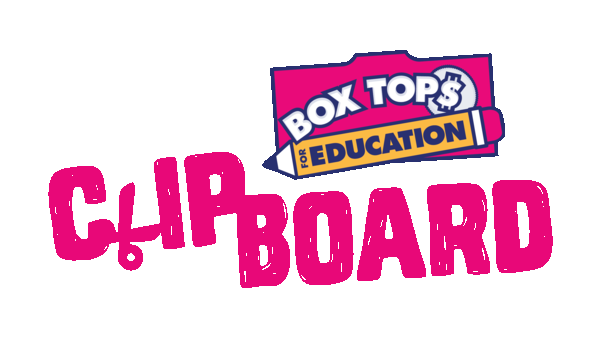 clip black and white Box Tops for Education