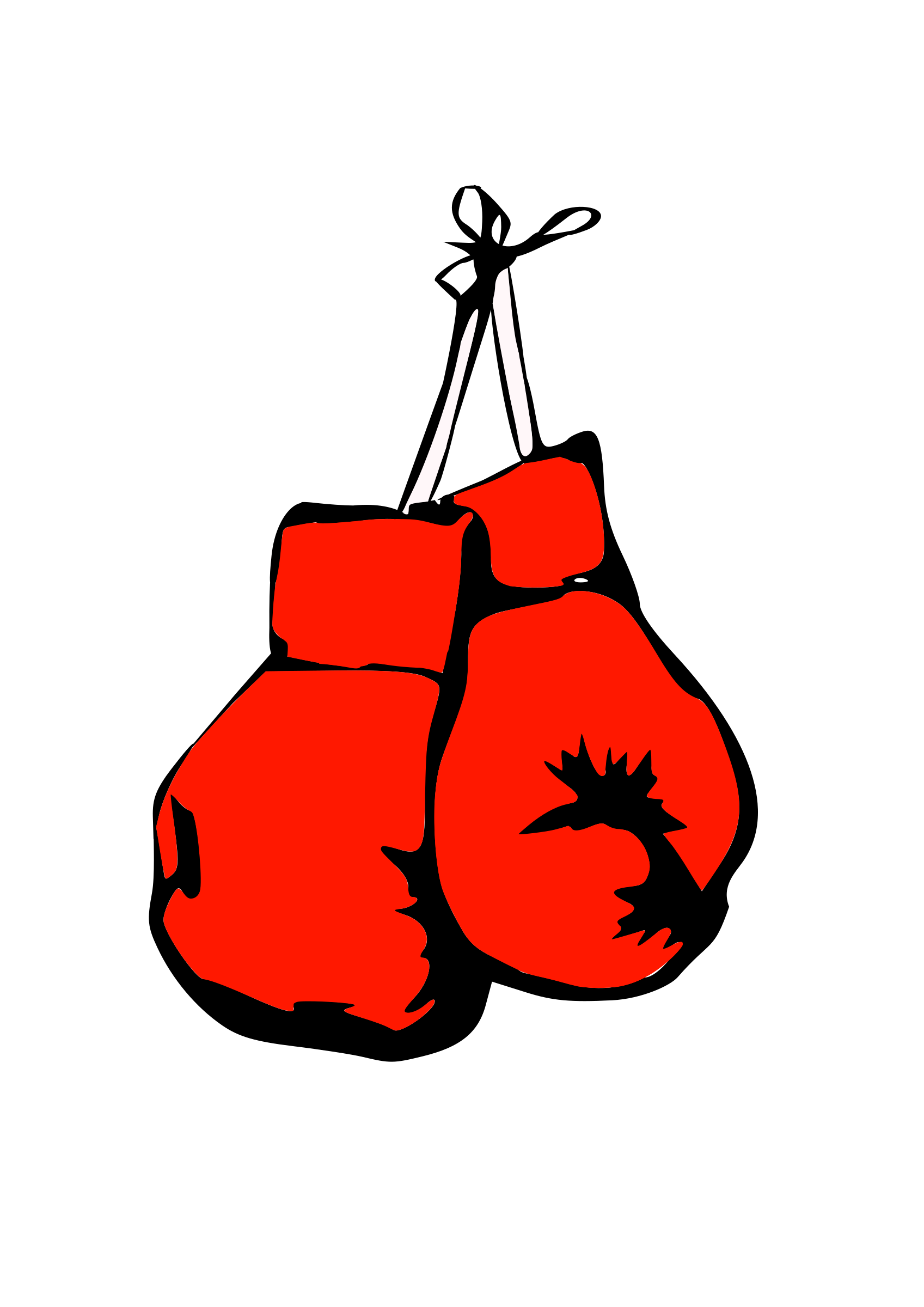 vector black and white Boxer box glove free. Boxing clipart boxing ring