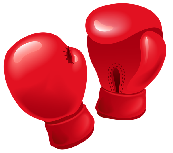 png black and white Red Boxing Gloves PNG Vector Clipart