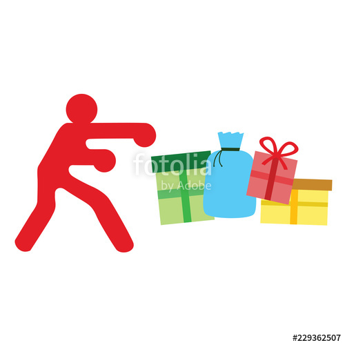 png free download With presents on white. Boxer clipart boxing day.