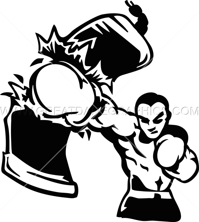 banner free library Boxing clipart punching bag. Boxer production ready artwork