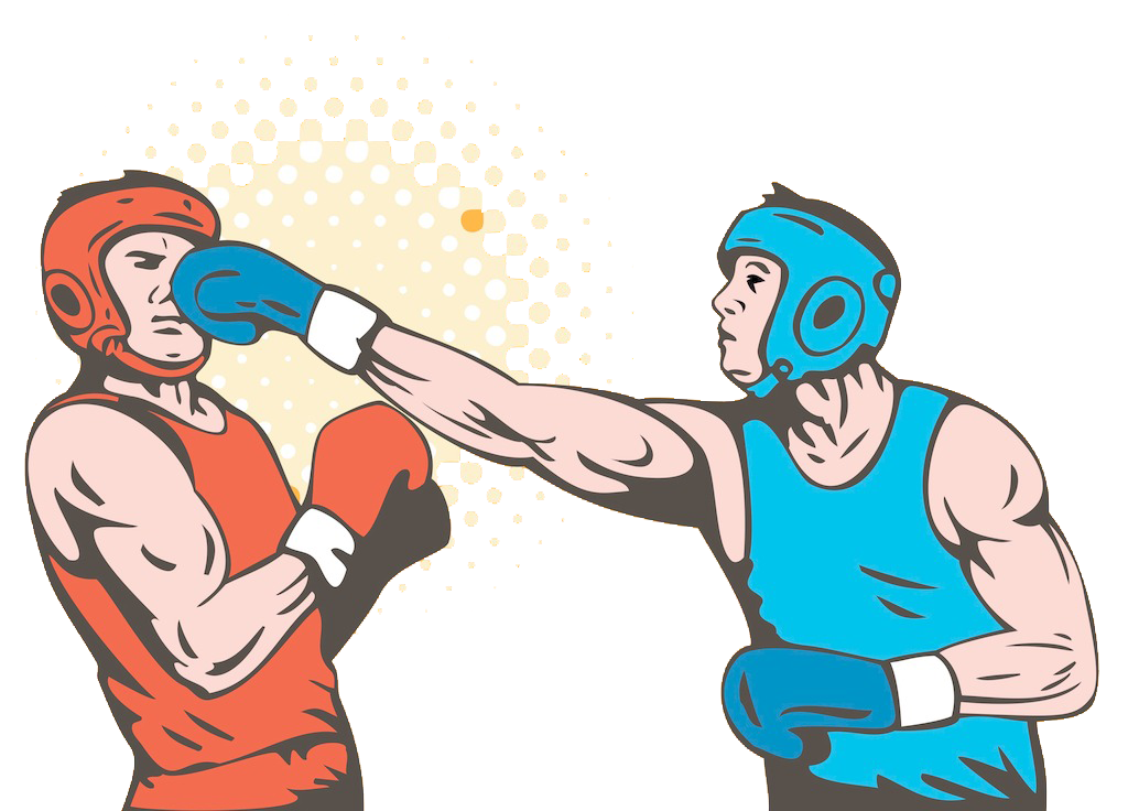 banner royalty free download Boxer clipart boxing punch. Glove knockout sparring.