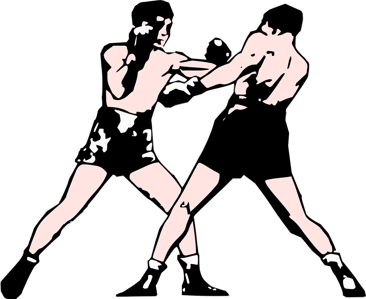 clip art black and white Boxer clipart boxing stance. Proper and footwork you