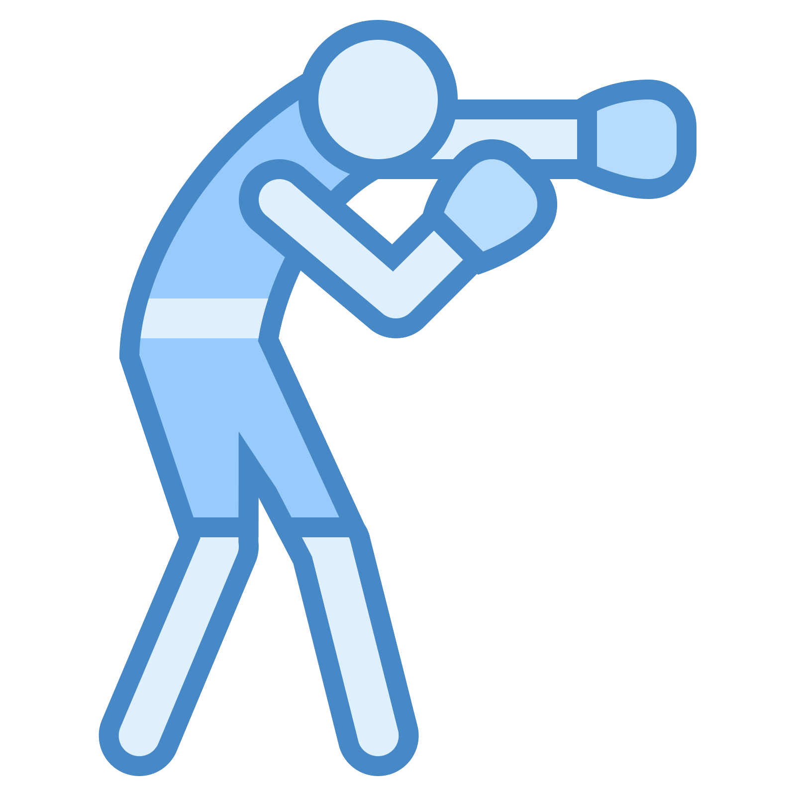vector download Boxer clipart boxing stance. Icon free download png