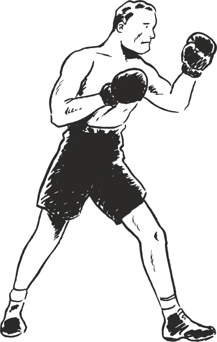 clip art royalty free Boxer clipart boxing stance. Category plus walls uk