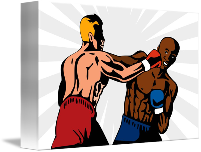 svg royalty free Boxer clipart challenger. Boxing knockout punch retro