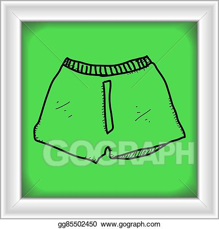 graphic transparent download Vector illustration simple doodle. Boxer clipart pair shorts