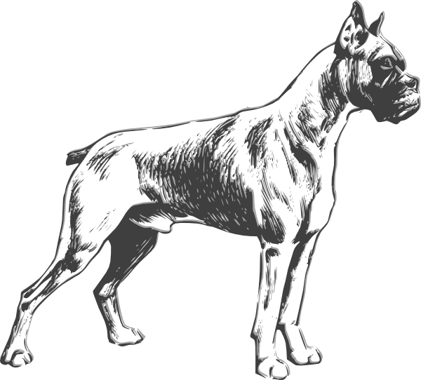 graphic download Boxer clipart silhouette. Dog clip art at