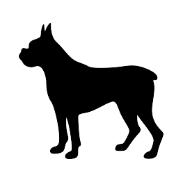 png royalty free Boxer clipart silhouette. Dog pets pinterest