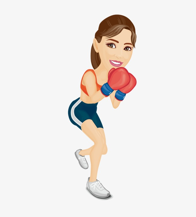 png black and white download Boxer clipart woman boxing. Transparent .