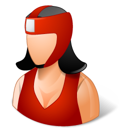 graphic Boxer clipart woman boxing. Icon page.
