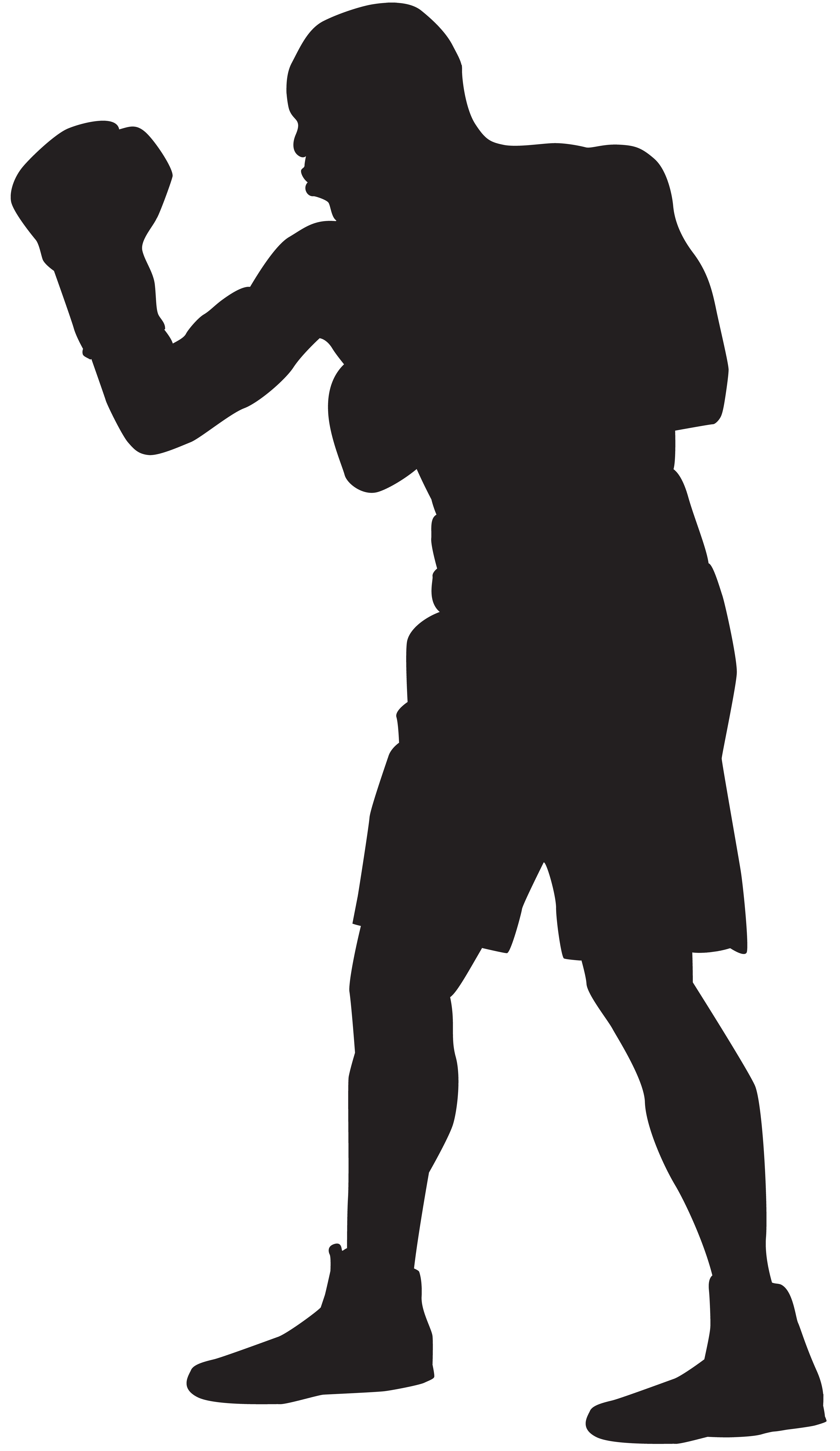 vector freeuse stock Boxer clipart. Silhouette png clip art