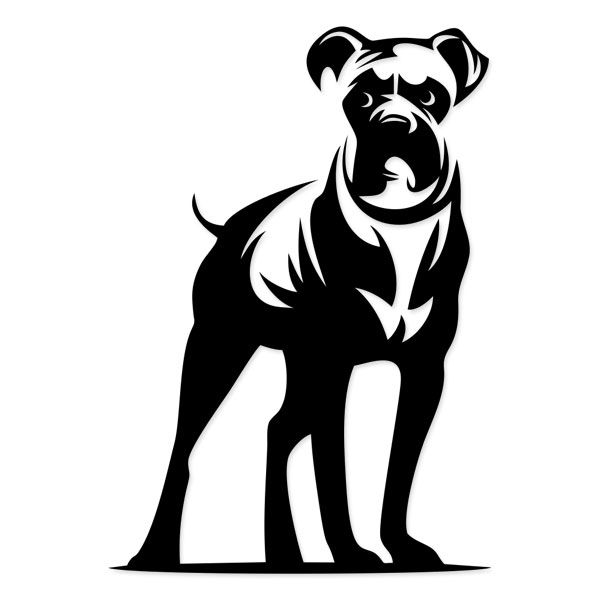clipart black and white stock Dog cuttable designs boxers. Boxer svg