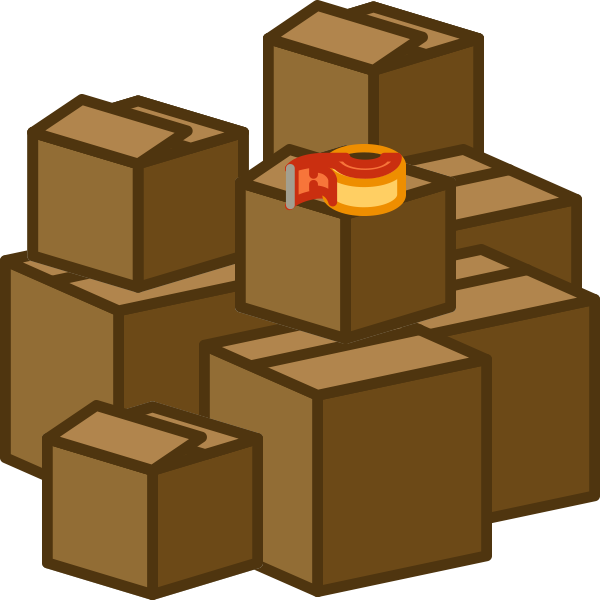 vector free download Boxes clipart.  collection of moving
