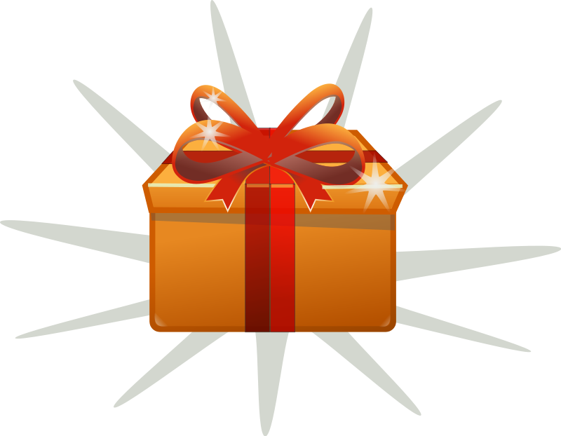 picture royalty free download Present clipart orange. Gift box graphics of