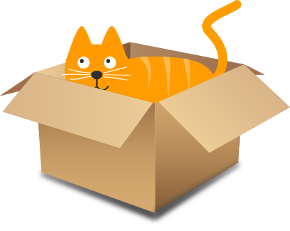 image freeuse download Breaking cryptography using quantum. Boxes clipart cat