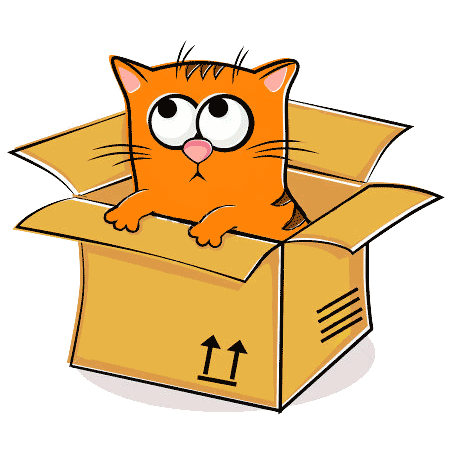 vector stock Boxes clipart cat. Karma clip art