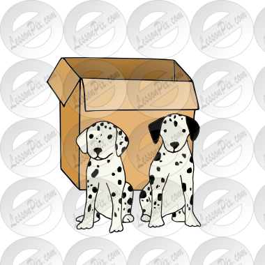 jpg black and white stock In front of the. Boxes clipart dog