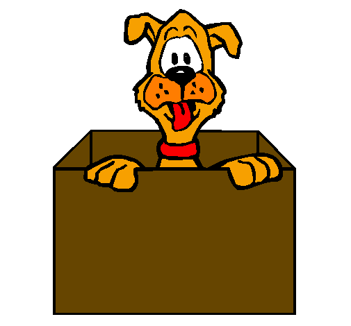 clipart free stock Boxes clipart dog. Cartoon puppy yellow transparent
