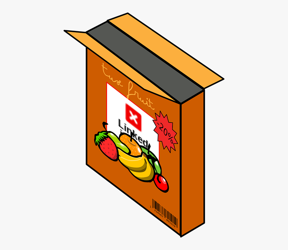 image royalty free stock Box cereal clip art. Boxes clipart groceries.