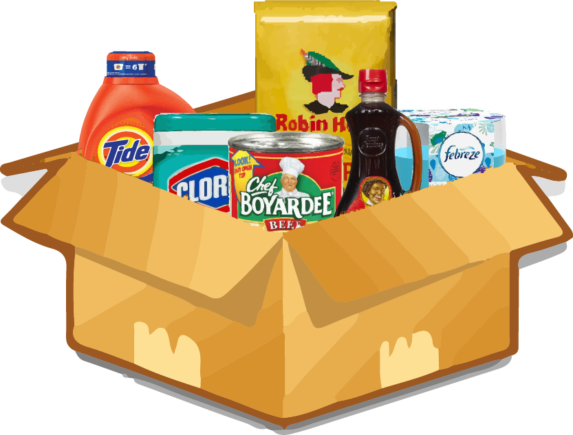 clip royalty free Boxes clipart groceries. Grocery product .