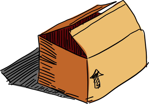 svg transparent Box cardboard free on. Boxes clipart groceries.