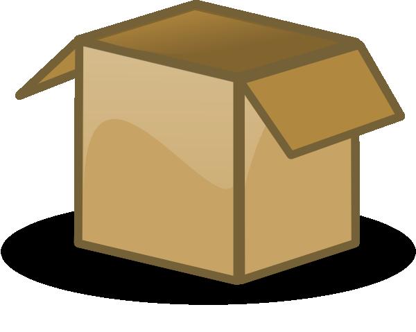 clip black and white Open box clip art. Boxes clipart house move