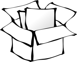 svg library stock Boxes clipart outline. Box clip art at