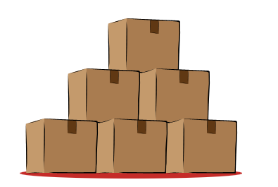 graphic freeuse stock  collection of stack. Boxes clipart stacked box