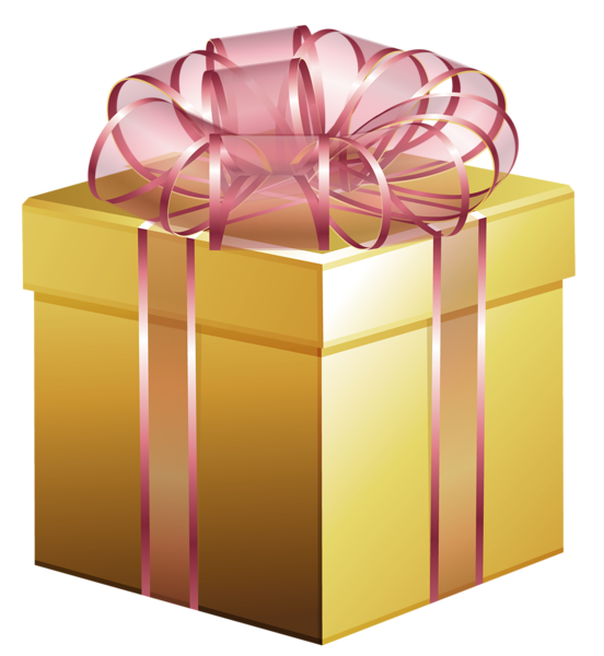 clipart library library Boxes clipart stacked box. Large gold gift with.