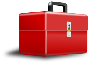 png black and white download Red metal tool box. Boxes clipart toolbox.