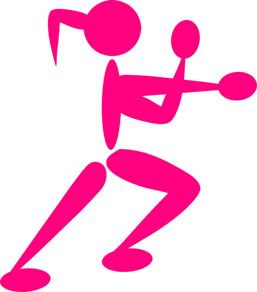 jpg library library Boxing clipart. Girl clip art at