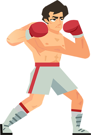 vector transparent stock Boxing clipart boxing winner. Rocky branded advertisements paid