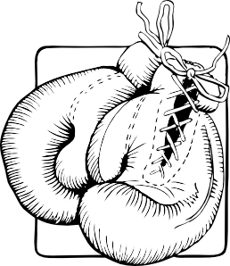 png royalty free library Boxing Gloves Outline Clip Art at Clker