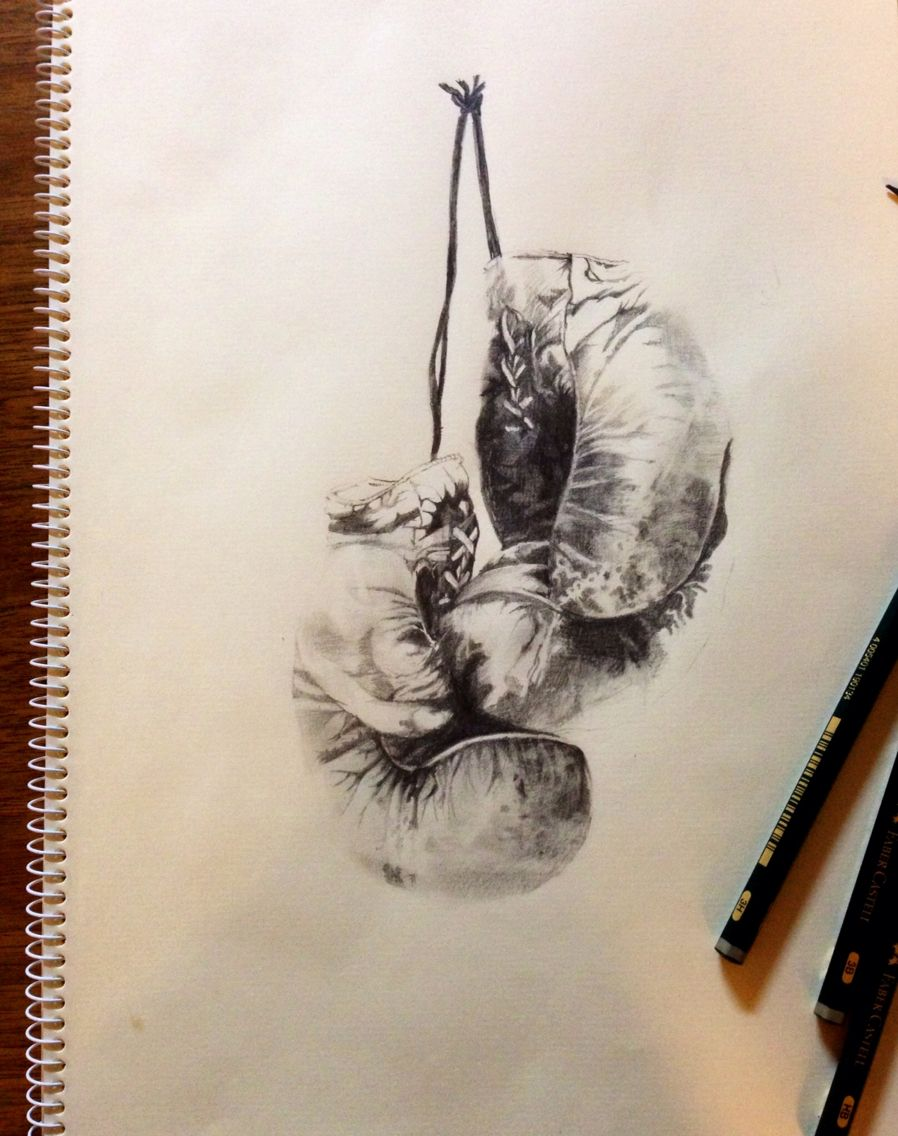 image library Boxing gloves Sketch Pencil By nolitatjpn