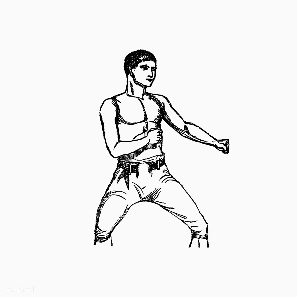 graphic free Boxing drawing vintage. Download premium illustration of