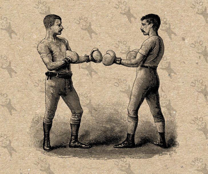 graphic download Boxing drawing vintage. Image box fight boxers