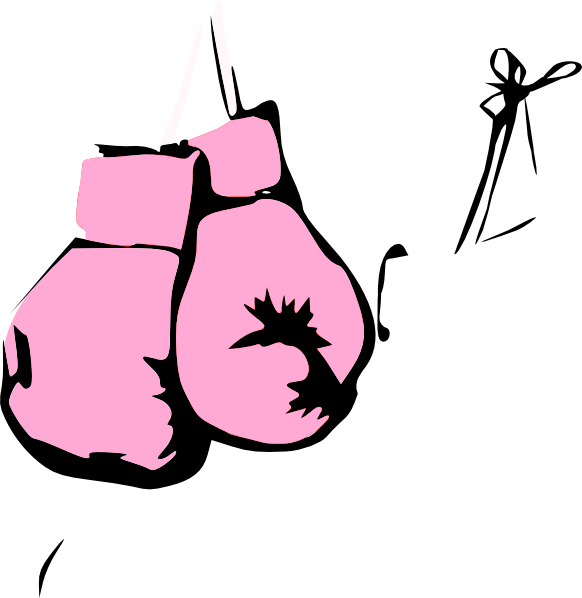 vector free download Pink Boxing Gloves Clip Art at Clker