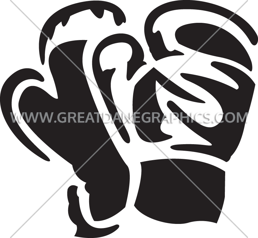 graphic black and white download Boxing gloves clipart black and white. Pair of production ready