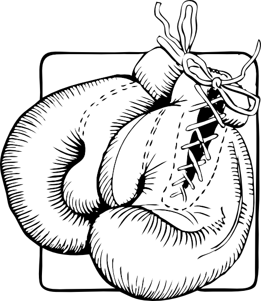 picture free stock Outline clip art at. Boxing gloves clipart black and white