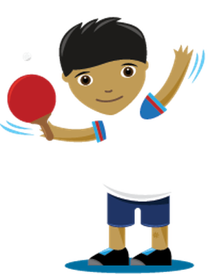 image library library Children playing sports table. Tennis clipart free