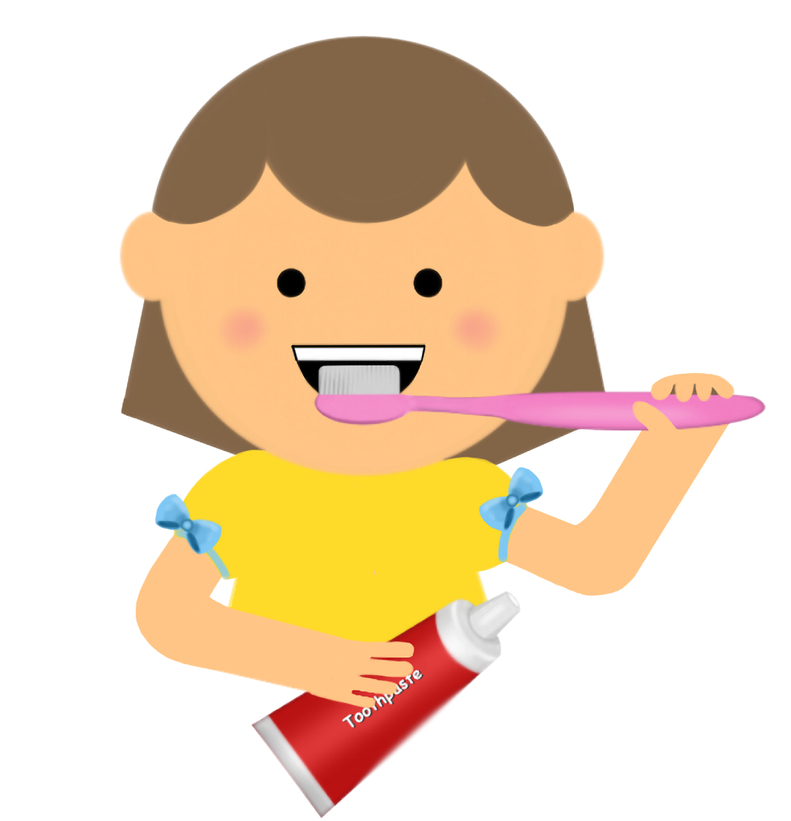 picture freeuse download Kid brushing teeth clipart. Boy letters format regarding.