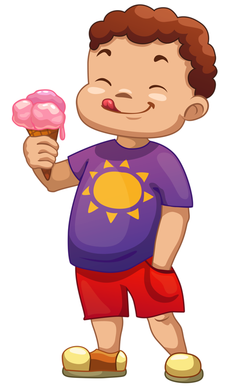 clip transparent Boy clipart ice cream.  png vacation clip.
