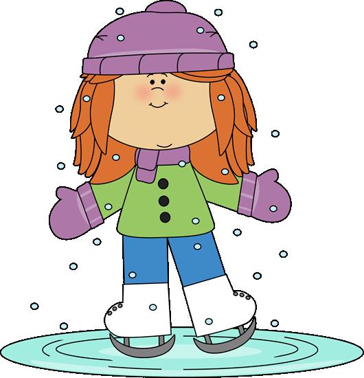 clip royalty free library Girl ice skating winter. Whisper clipart bad kid
