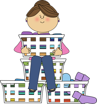 clip art black and white  collection of doing. Boy clipart laundry.