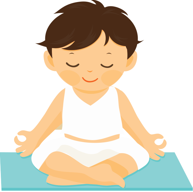 freeuse download Boy clipart yoga. And kids peace partners