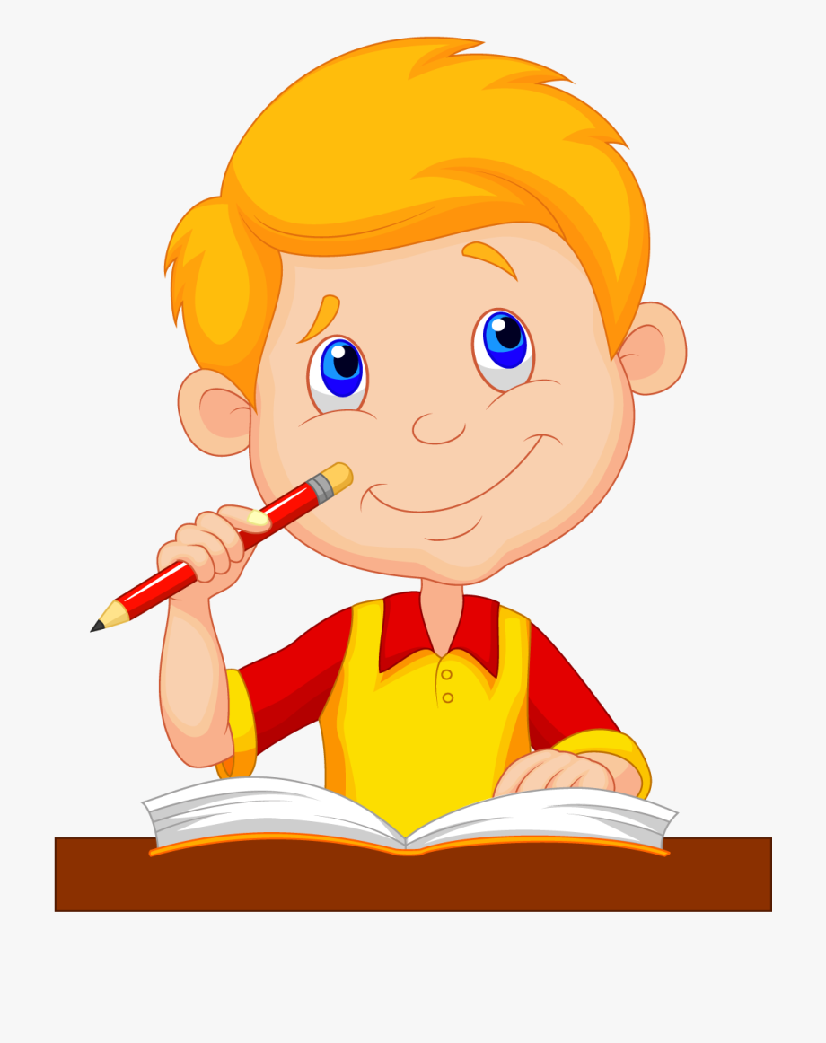 clip library stock Boy drawing clipart. Studying cartoon picture of
