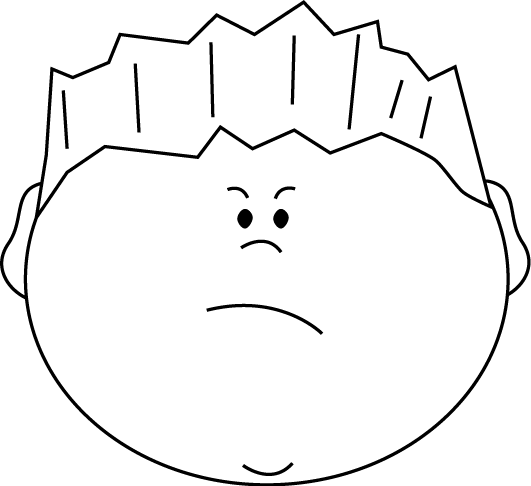 banner black and white download Angry emociones pinterest. Boy face clipart black and white
